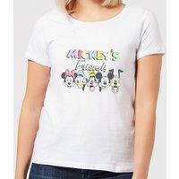 Disney Mickey's Friends Women's T-Shirt - White - L - White