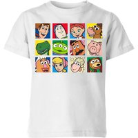 Disney Toy Story Face Collage Kids' T-Shirt - White - 11-12 Years