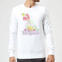 Disney Little Mermaid Sweatshirt - White - L - White