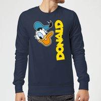 Disney Donald Duck Face Sweatshirt - Navy - XL - Navy