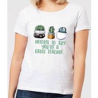 Needles To Say You're A Great Teacher Women's T-Shirt - White - 4XL - White