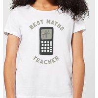 Best Maths Teacher Women's T-Shirt - White - XL - White