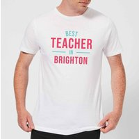 Best Teacher In Brighton Mens T-Shirt - White - XL - White