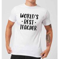Worlds Best Teacher Mens T-Shirt - White - L - White