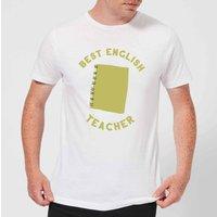 Best English Teacher Mens T-Shirt - White - 5XL - White