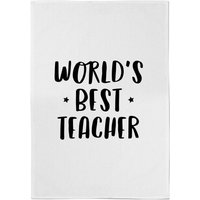 World's Best Teacher Cotton Tea Towel