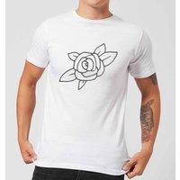 Rose Mens T-Shirt - White - L - White