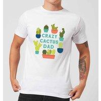 Crazy Cactus Dad Men's T-Shirt - White - XS - White