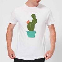 Single Potted Cactus Men's T-Shirt - White - M - White