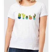 Cacti In A Row Women's T-Shirt - White - 4XL - White