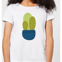 Three Potted Cacti Women's T-Shirt - White - 5XL - White