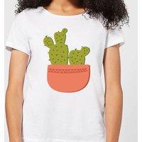 Two Potted Cacti Women's T-Shirt - White - 4XL - White