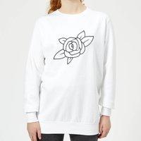 Rose Women's Sweatshirt - White - XS - White
