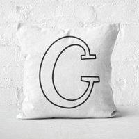 Handwritten C Square Cushion - 60x60cm - Soft Touch
