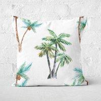 Palm Tree Square Cushion - 50x50cm - Soft Touch