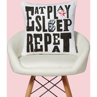 Monopoly Eat Sleep Play Repeat Square Cushion - 50x50cm - Soft Touch