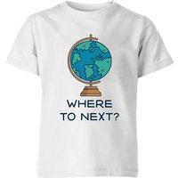 Globe Where To Next? Kids' T-Shirt - White - 9-10 Years - White