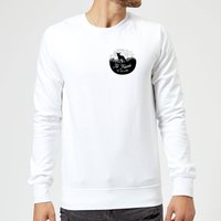 Black To Travel Is To Live Pocket Print Sweatshirt - White - S - White