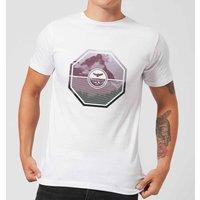 Octagon Mountain Photo Graphic Men's T-Shirt - White - L - White