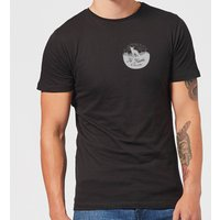 To Travel Is To Live Pocket Print Men's T-Shirt - Black - XS - Black