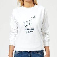 Little Dipper Constellation Never Lost Women's Sweatshirt - White - XL - White