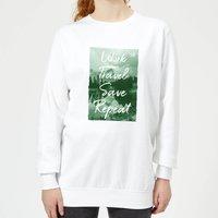 Work Travel Save Repeat Forest Photo Women's Sweatshirt - White - XL - White