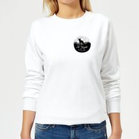 Black To Travel Is To Live Pocket Print Women's Sweatshirt - White - S - White