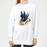 Swallow Free Spirit Women's Sweatshirt - White - XL - White