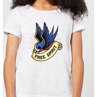 Swallow Free Spirit Women's T-Shirt - White - 5XL - White