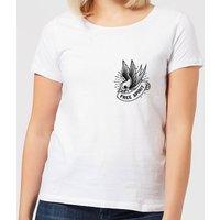 Swallow Free Spirit Pocket Print Women's T-Shirt - White - 3XL - White