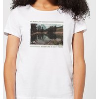 Forest Photo Scene Wonderlust Adventure Is Out There Women's T-Shirt - White - S - White