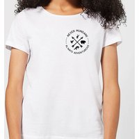 Never Mundane Always Adventurous Pocket Print Women's T-Shirt - White - 3XL - White