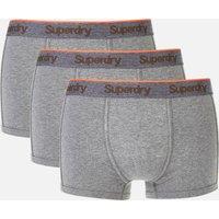 Superdry Men's Orange Label Sport Trunk Boxers Triple Pack - Dark Marl/Dark Marl/Dark Marl - S