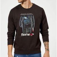 Friday the 13th Vintage Poster Sweatshirt - Black - 5XL - Black - Poster Gifts