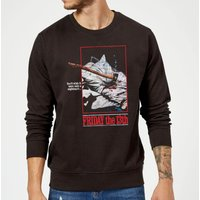 Friday the 13th Axe Attack Retro Poster Sweatshirt - Black - 5XL - Black - Poster Gifts