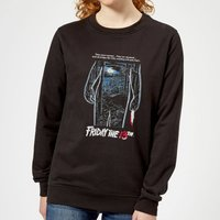 Friday the 13th Vintage Poster Women's Sweatshirt - Black - 5XL - Black - Poster Gifts