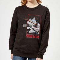 Friday the 13th Axe Attack Retro Poster Women's Sweatshirt - Black - 5XL - Black - Poster Gifts