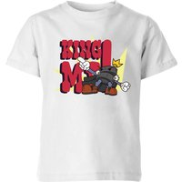 King Me! Checker King Kids' T-Shirt - White - 11-12 Years - White