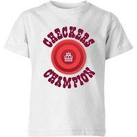 Checkers Champion Red Checker Kids' T-Shirt - White - 7-8 Years - White