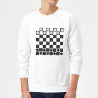 Playing Checkers Board Sweatshirt - White - XL - White