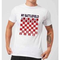 My Battlefield Chess Board Red & White Men's T-Shirt - White - L - White