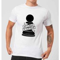 Pawn Chess Piece Men's T-Shirt - White - L - White