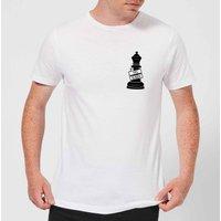 Queen Chess Piece Yas Queen Pocket Print Men's T-Shirt - White - XXL - White