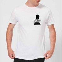 Pawn Chess Piece Pocket Print Men's T-Shirt - White - 5XL - White