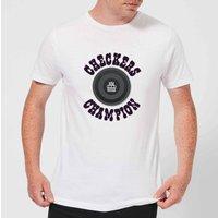Checkers Champion Black Checker Men's T-Shirt - White - 3XL - White