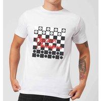 Checkers Board Champion Men's T-Shirt - White - S - White