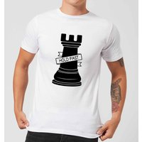 Rook Chess Piece Hold Fast Men's T-Shirt - White - S - White