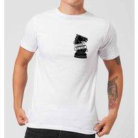 Knight Chess Piece Honour And Glory Pocket Print Men's T-Shirt - White - XS - White