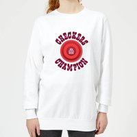 Checkers Champion Red Checker Women's Sweatshirt - White - XL - White