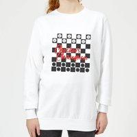 Checkers Board Champion Women's Sweatshirt - White - XXL - White